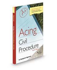 Spencers acing civil procedure 4th fandeluxe Gallery