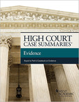 High Court Case Summaries Evidence
